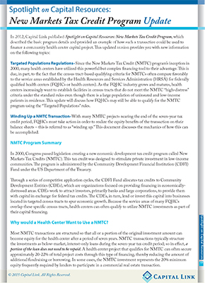 NMTC Update 2015 Page 1